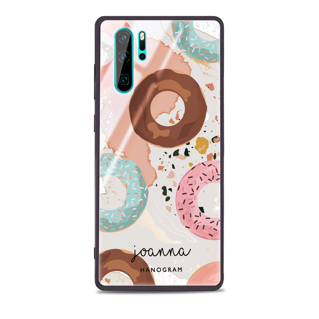 Donuts Land Huawei Glass Case