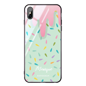 Delicious ice cream iPhone XS Max Glass Case