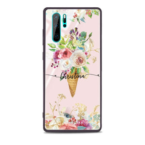 Ice cream floral Huawei Glass Case