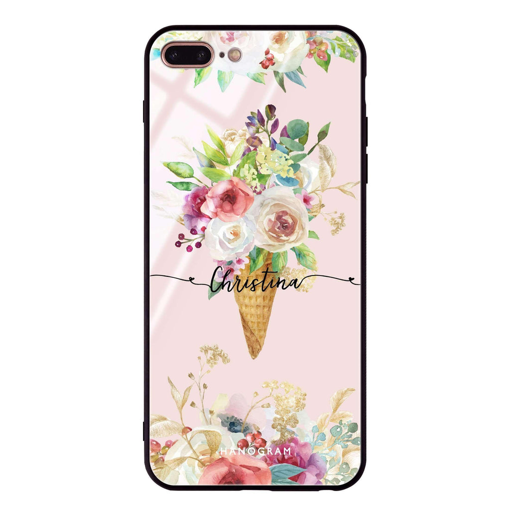 Ice cream floral iPhone 7 Plus Glass Case