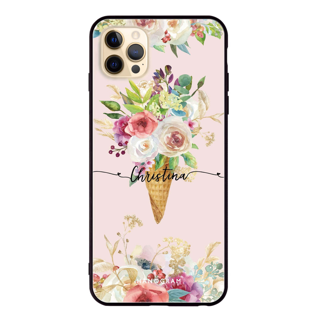 Ice cream floral Glass Case