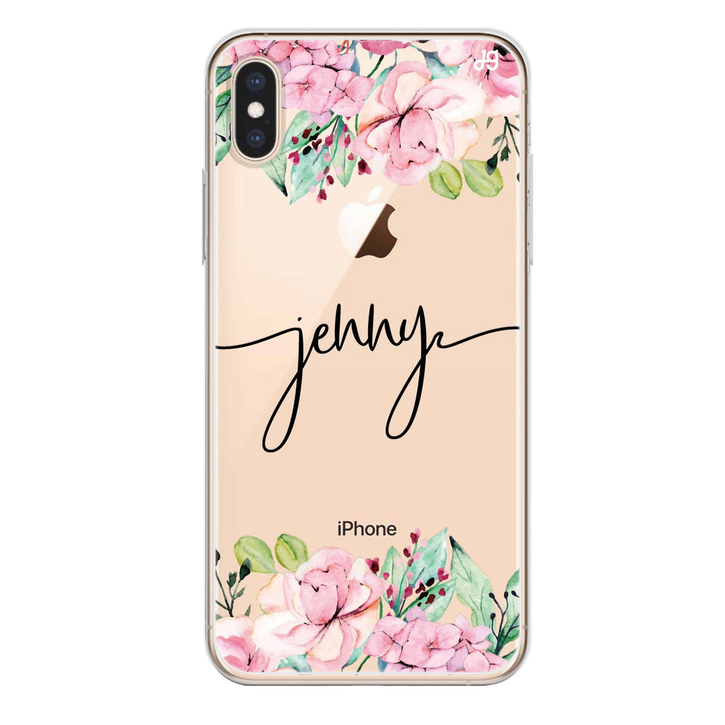 Floral Dream I iPhone XS Soft Clear Case