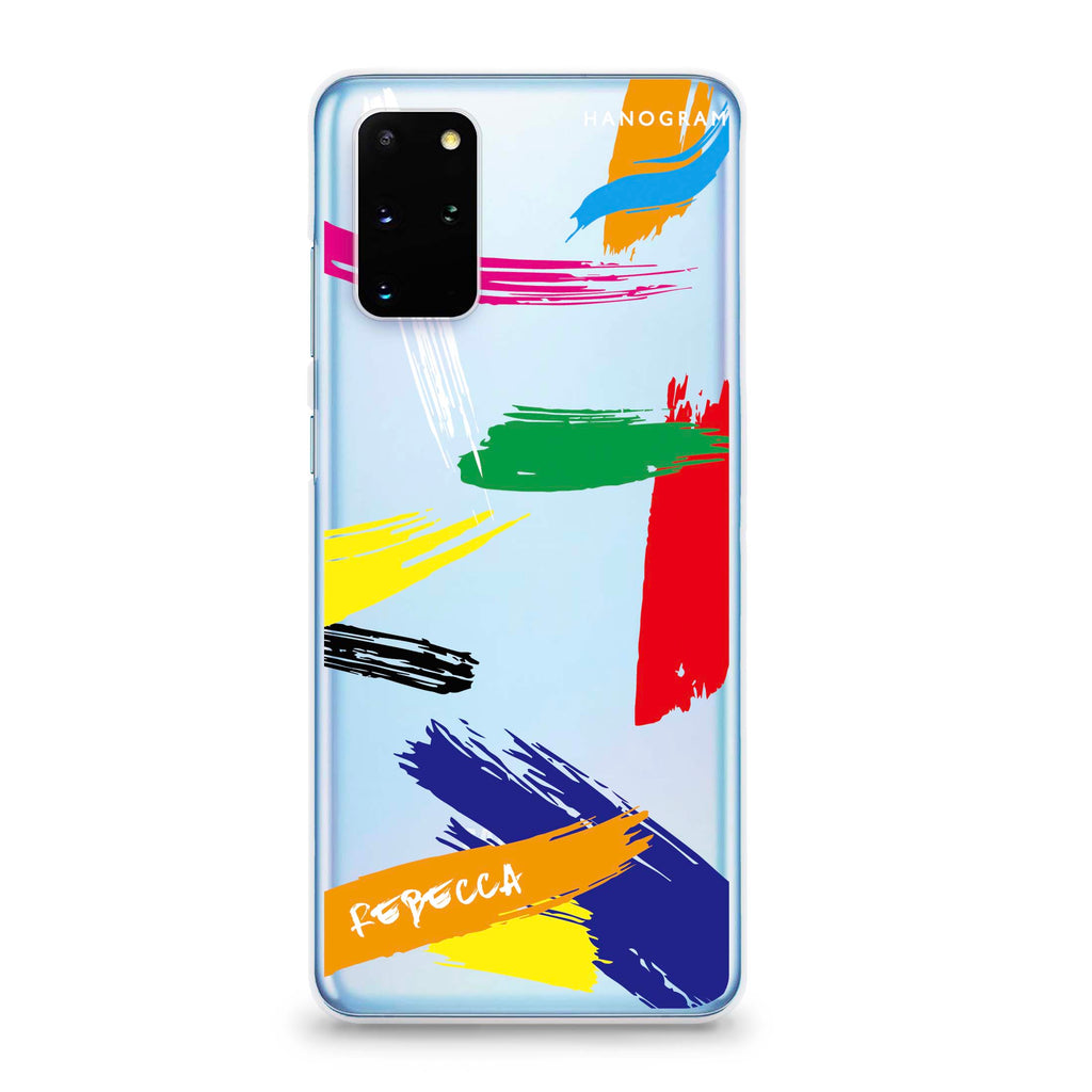 Brush Paint Samsung S20 Plus Soft Clear Case