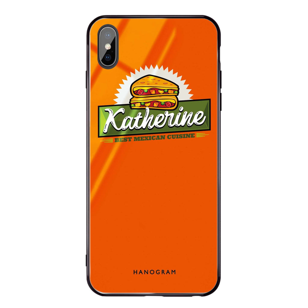Pizza Food I iPhone XS Max Glass Case