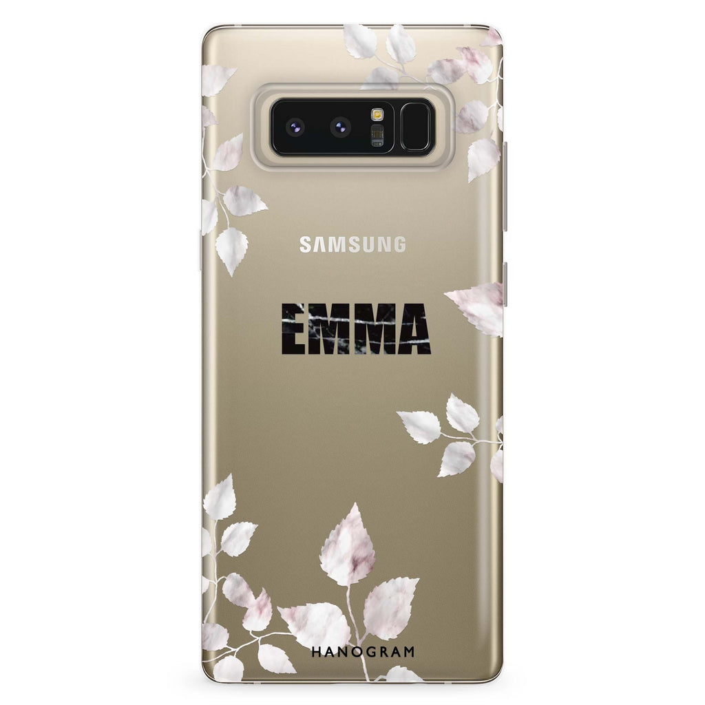Life Simple Floral Samsung Note 8 Soft Clear Case