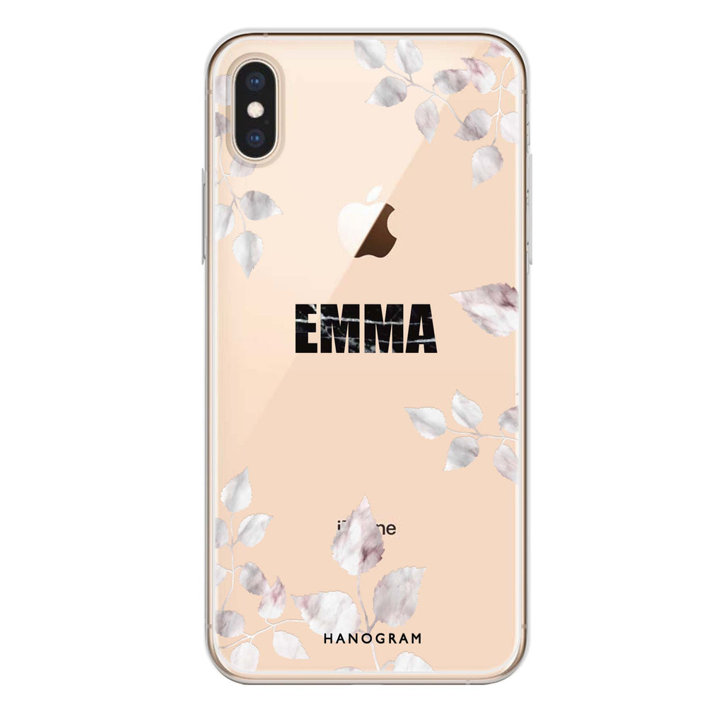 Life Simple Floral iPhone XS Max Soft Clear Case