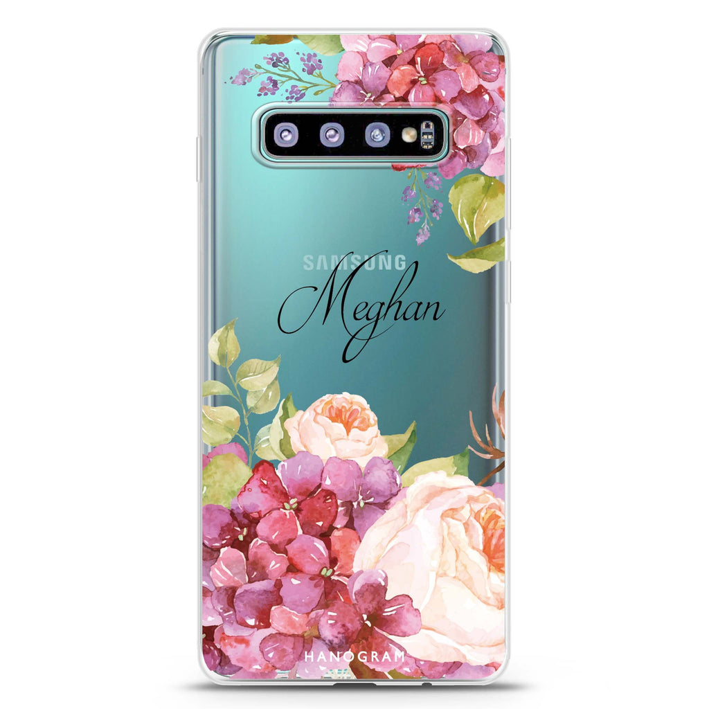 Pretty Floral Samsung S10 Plus Soft Clear Case