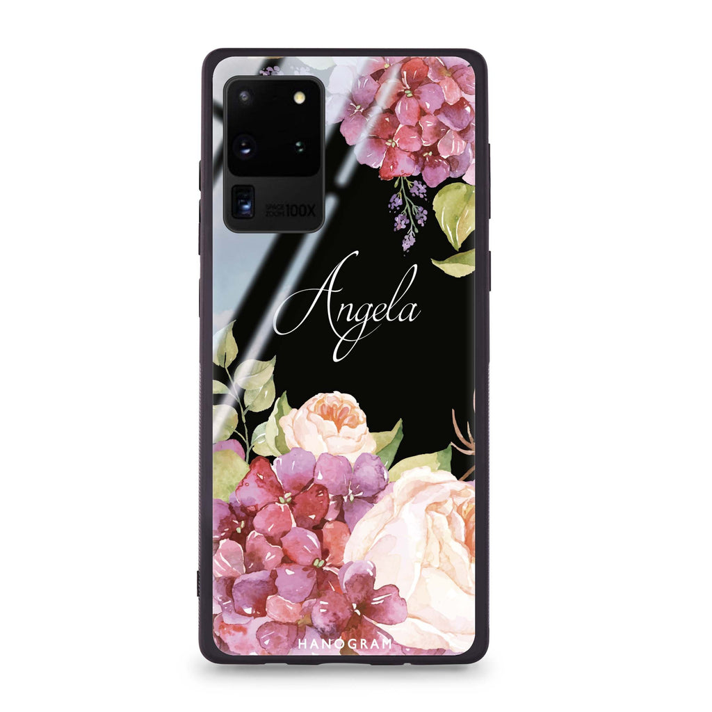 Pretty Floral Samsung Glass Case