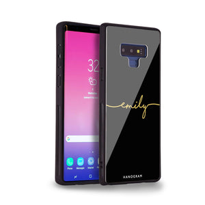 Handwritten Samsung Note 9 Glass Case