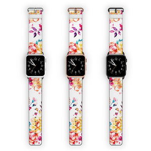 Tropical Watercolor Florals APPLE WATCH BANDS
