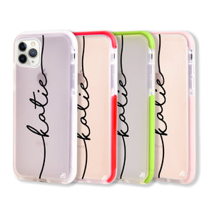 Vertical Handwritten Frosted Bumper Case