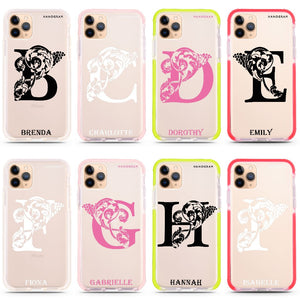 Ornamental Alphabet Shockproof Bumper Case