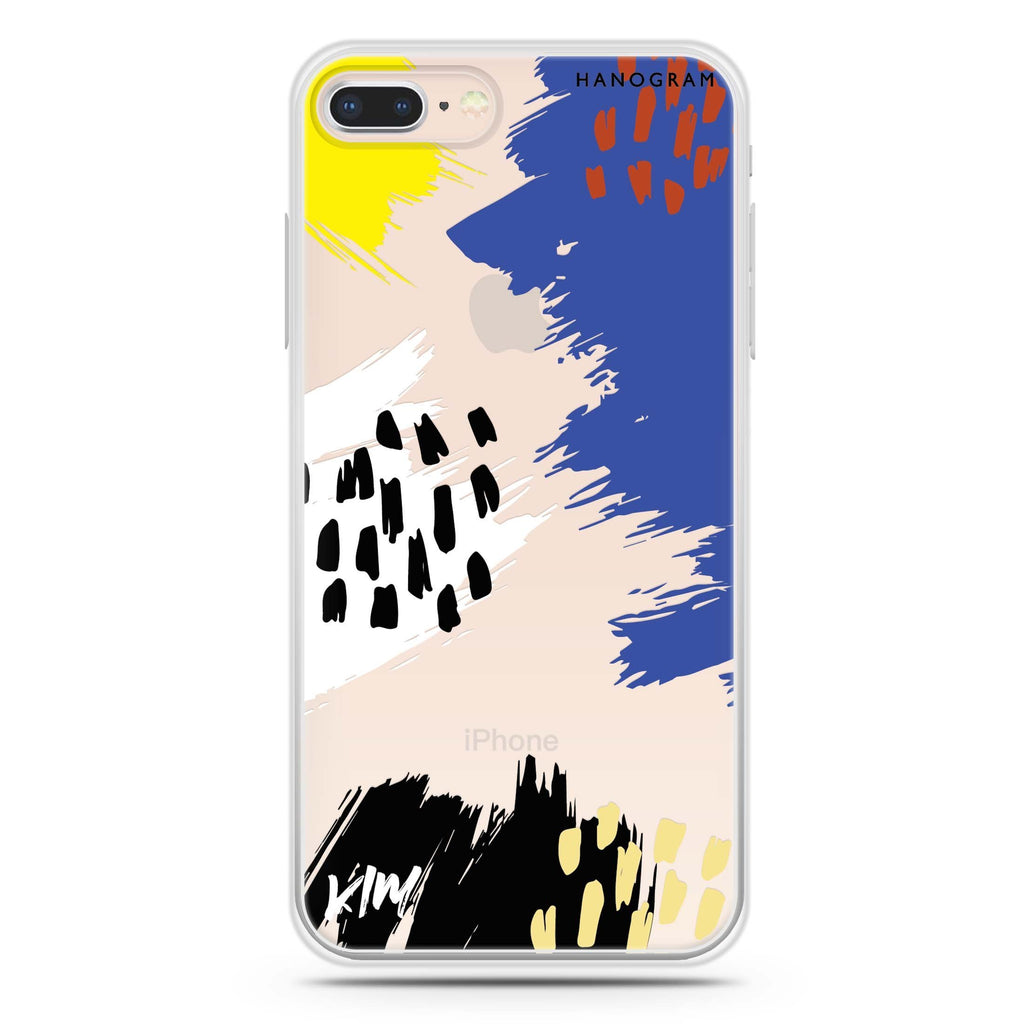 Trendy Abstract I iPhone 8 Soft Clear Case