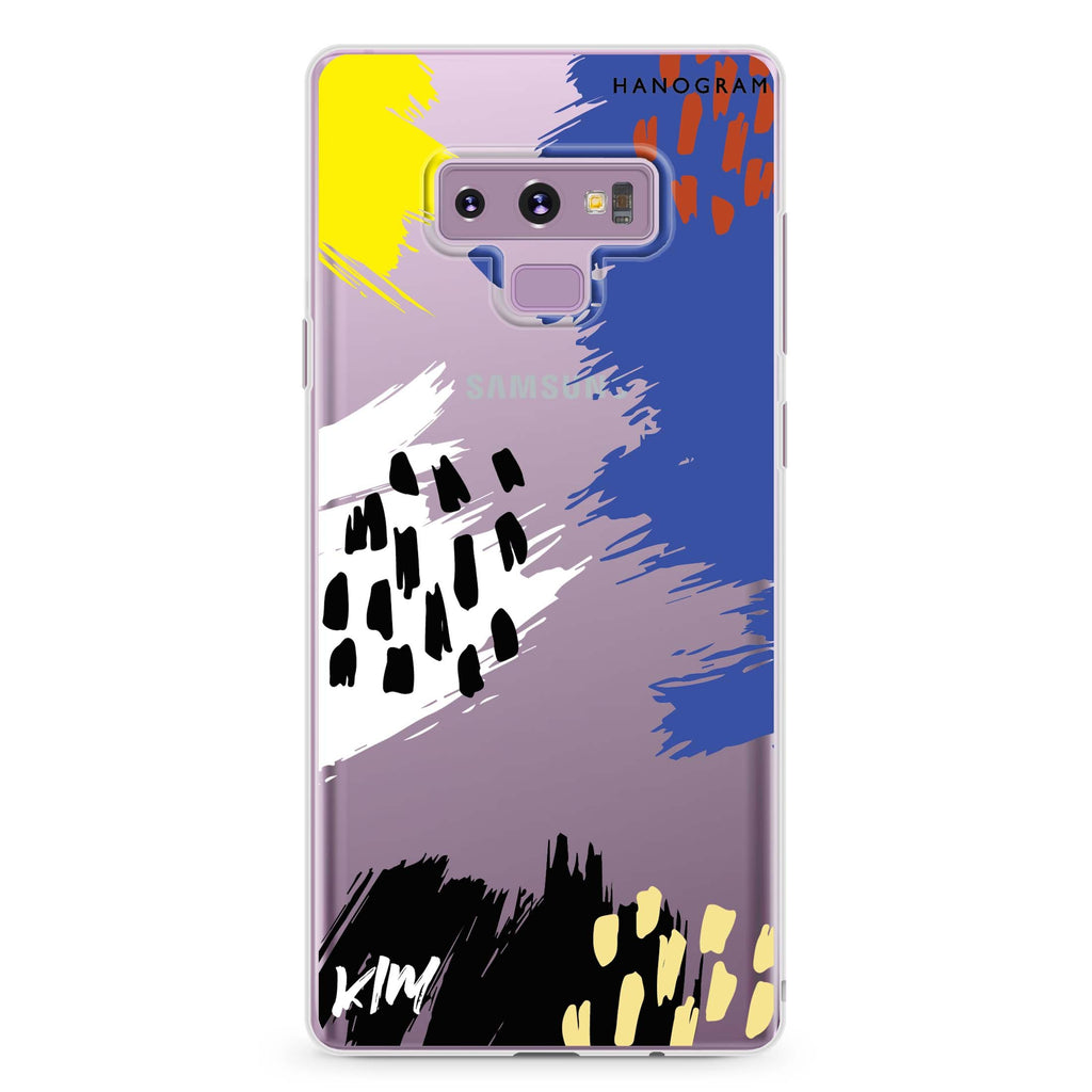 Trendy Abstract I Samsung Note 9 Soft Clear Case