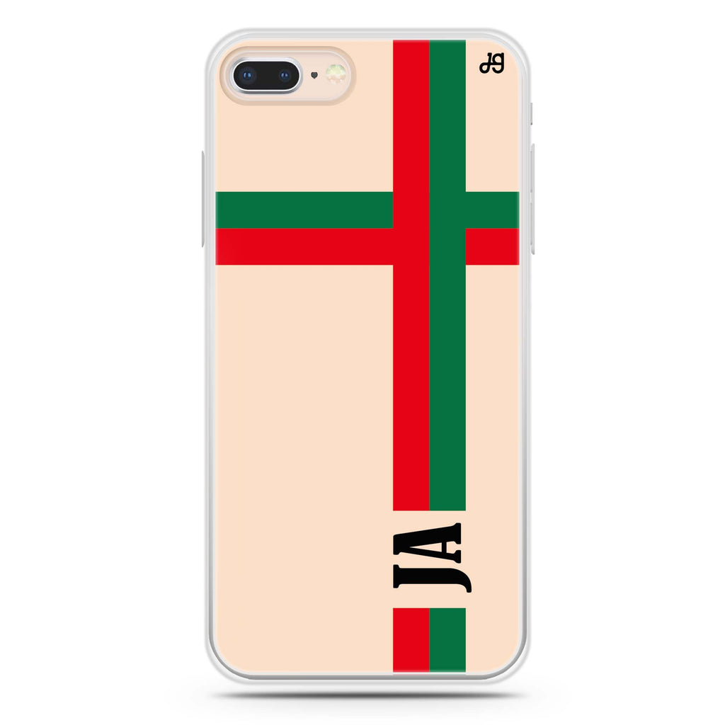 Matching Stripes iPhone 7 Plus Soft Clear Case