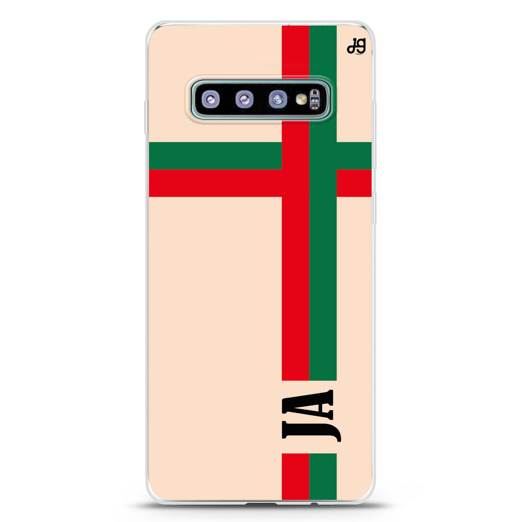 Matching Stripes Samsung S10 Plus Soft Clear Case