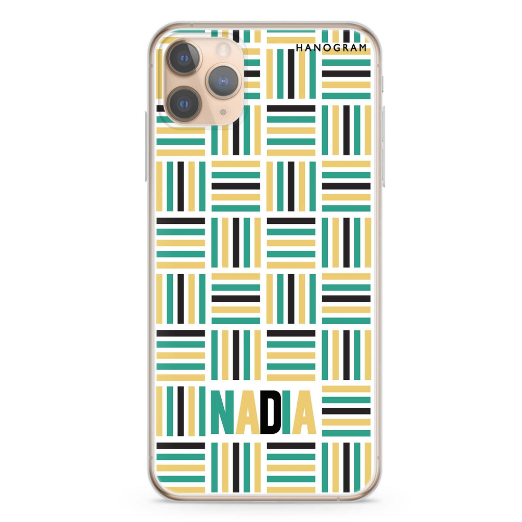 Stripes Camo iPhone 11 Pro Max Soft Clear Case