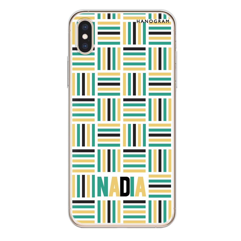 Stripes Camo iPhone XS Soft Clear Case