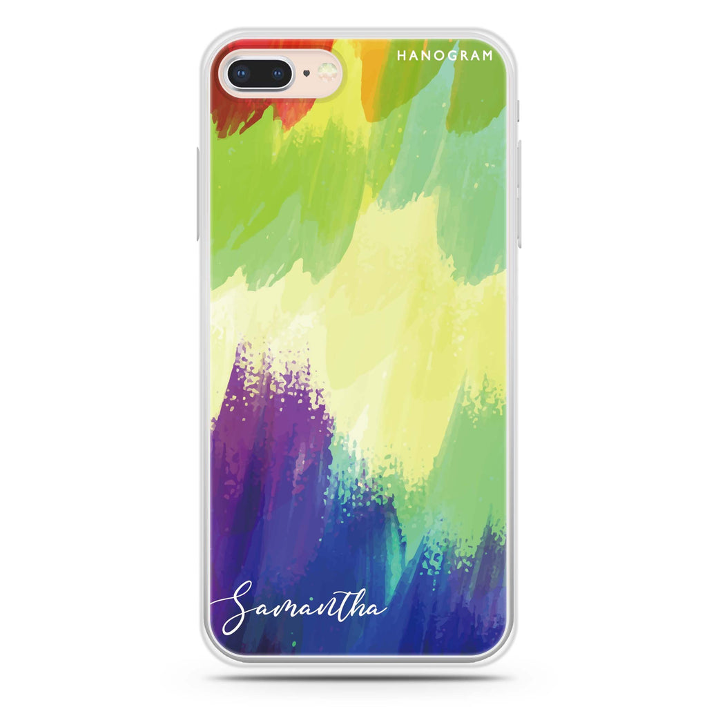 Watercolor Abstract iPhone 8 Soft Clear Case