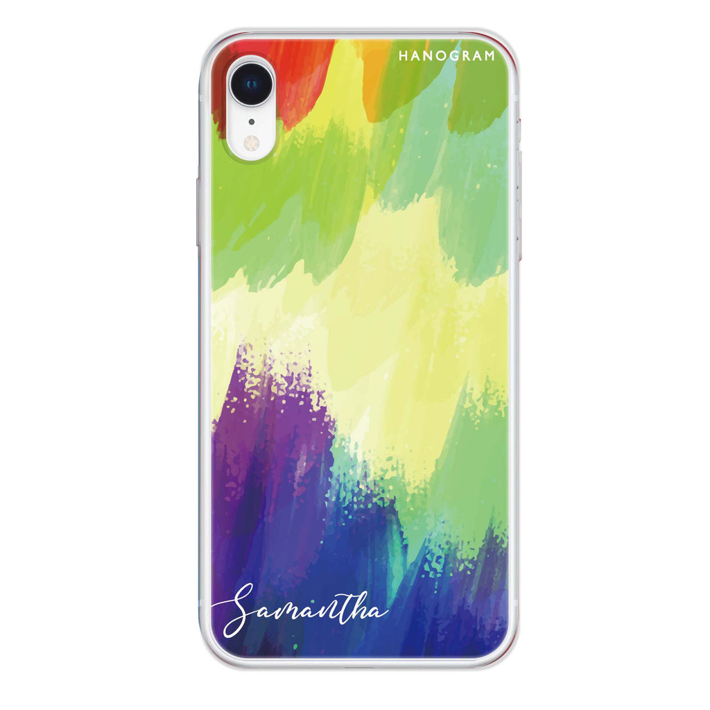 Watercolor Abstract iPhone XR Soft Clear Case