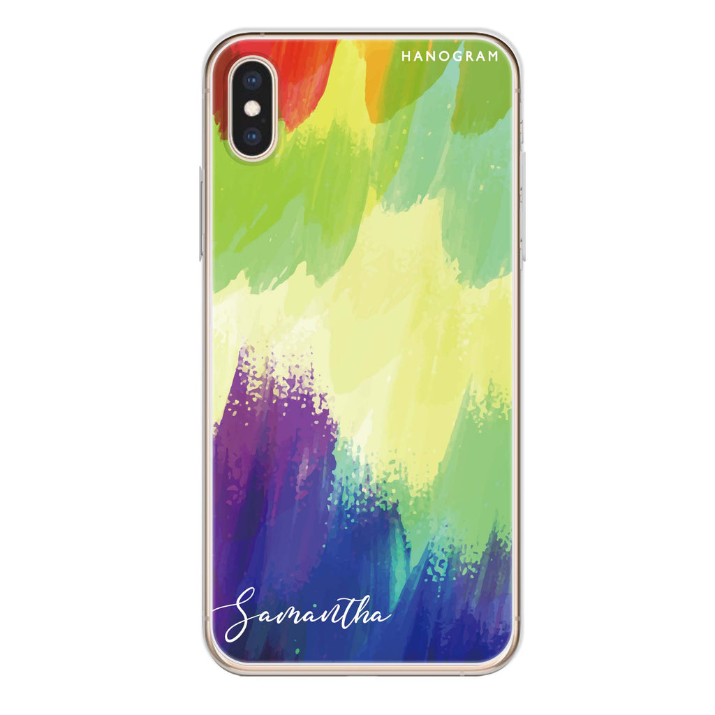 Watercolor Abstract iPhone XS Max Soft Clear Case