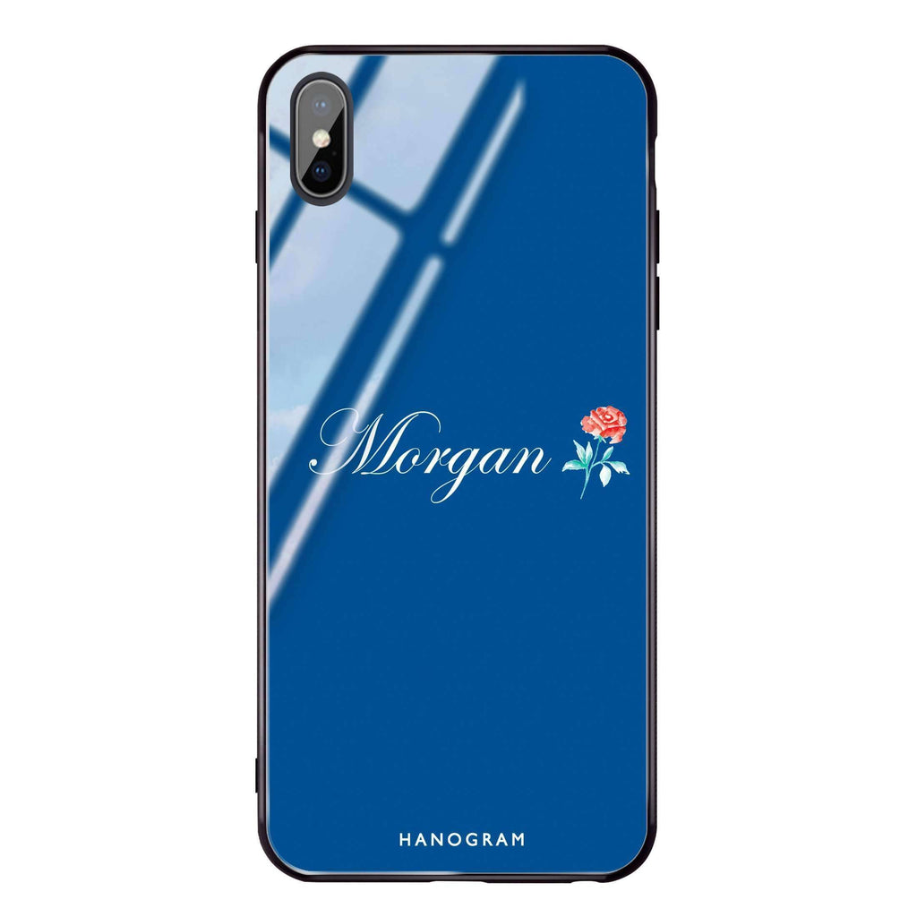Little Flower Princess Blue Glass Case