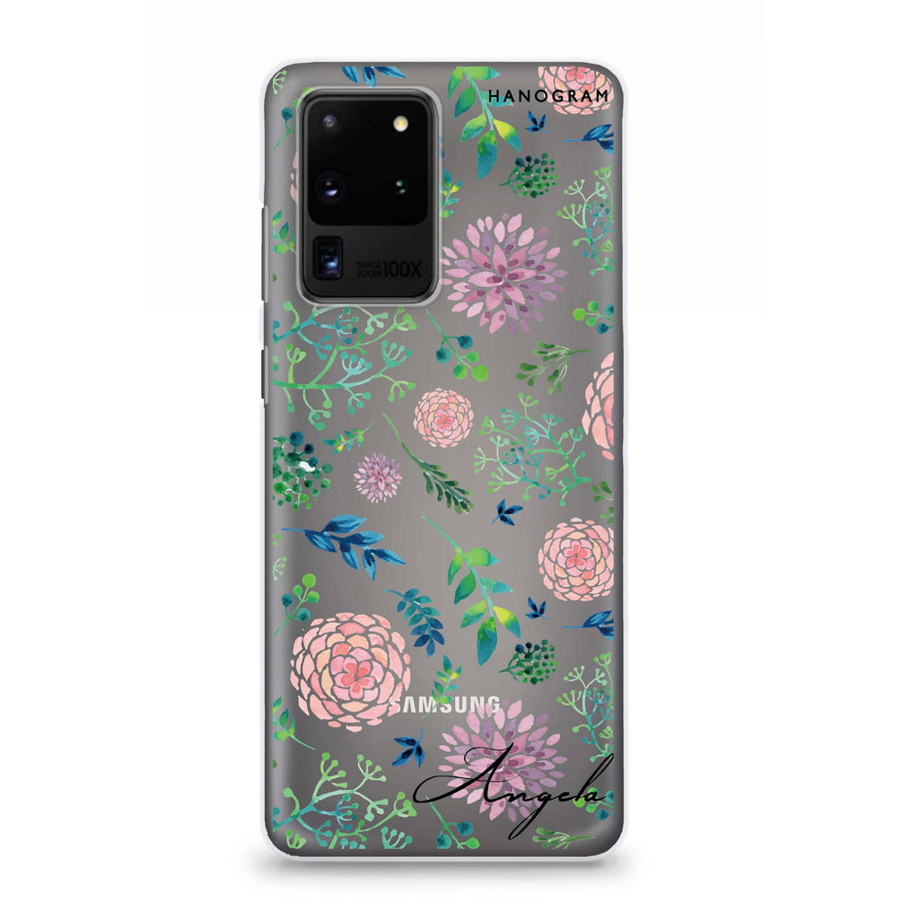 Paint Flower Samsung S20 Ultra Soft Clear Case