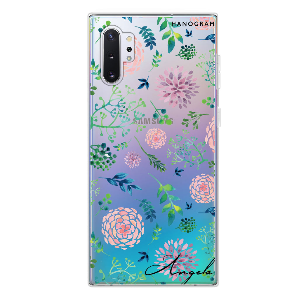 Paint Flower Samsung Note 10 Plus Soft Clear Case