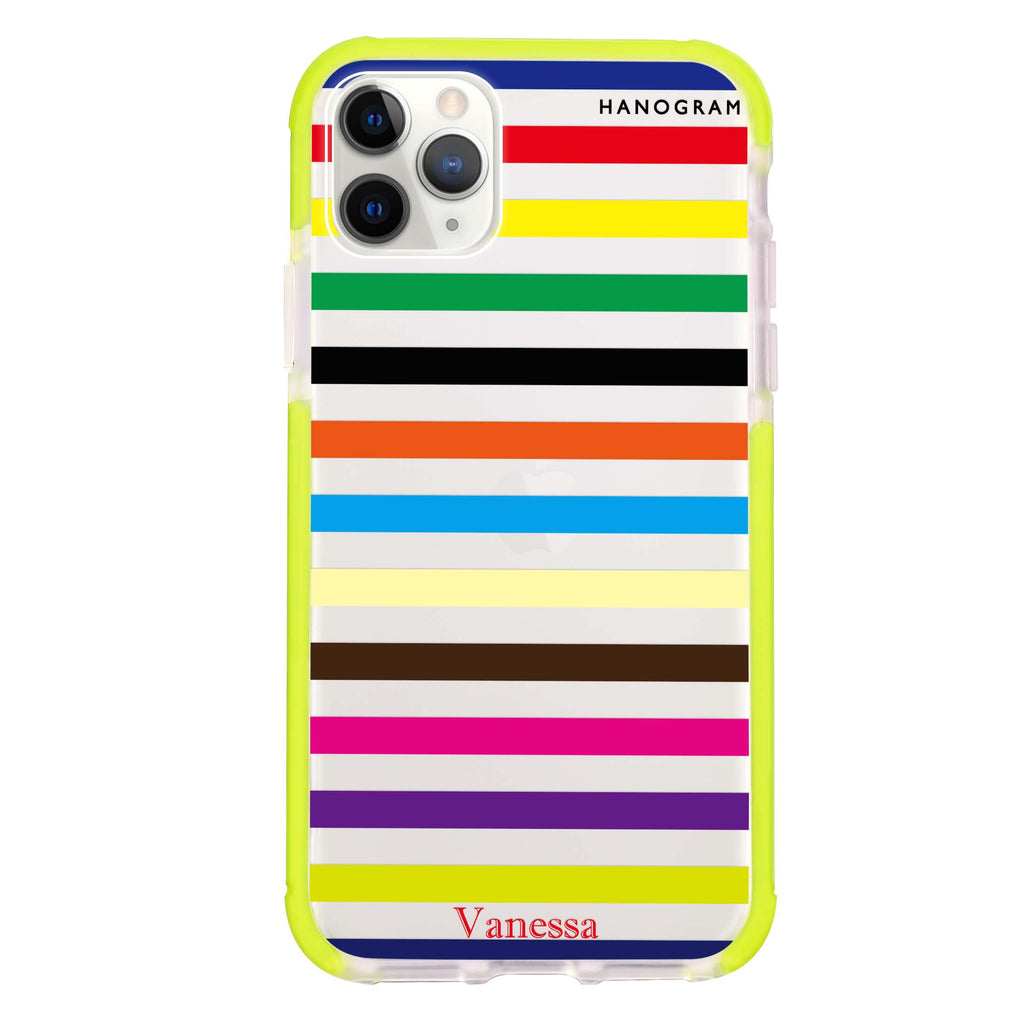 colorful stripe Shockproof Bumper Case