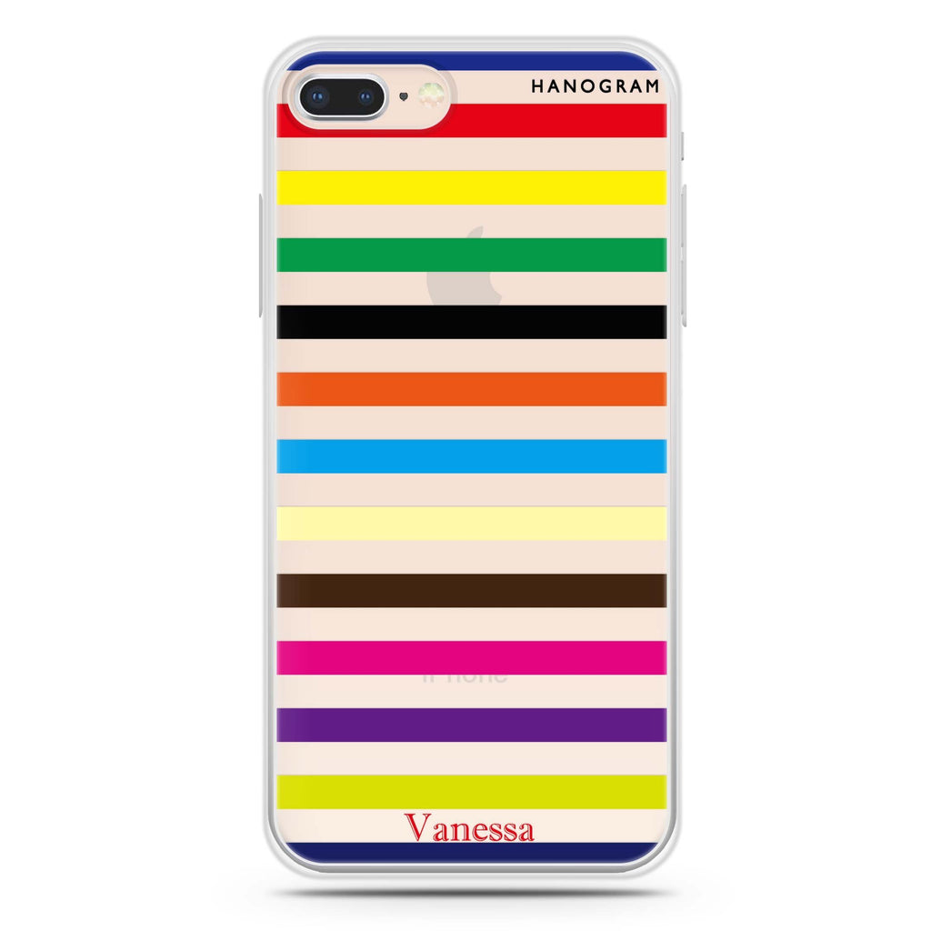 colorful stripe iPhone 8 Soft Clear Case