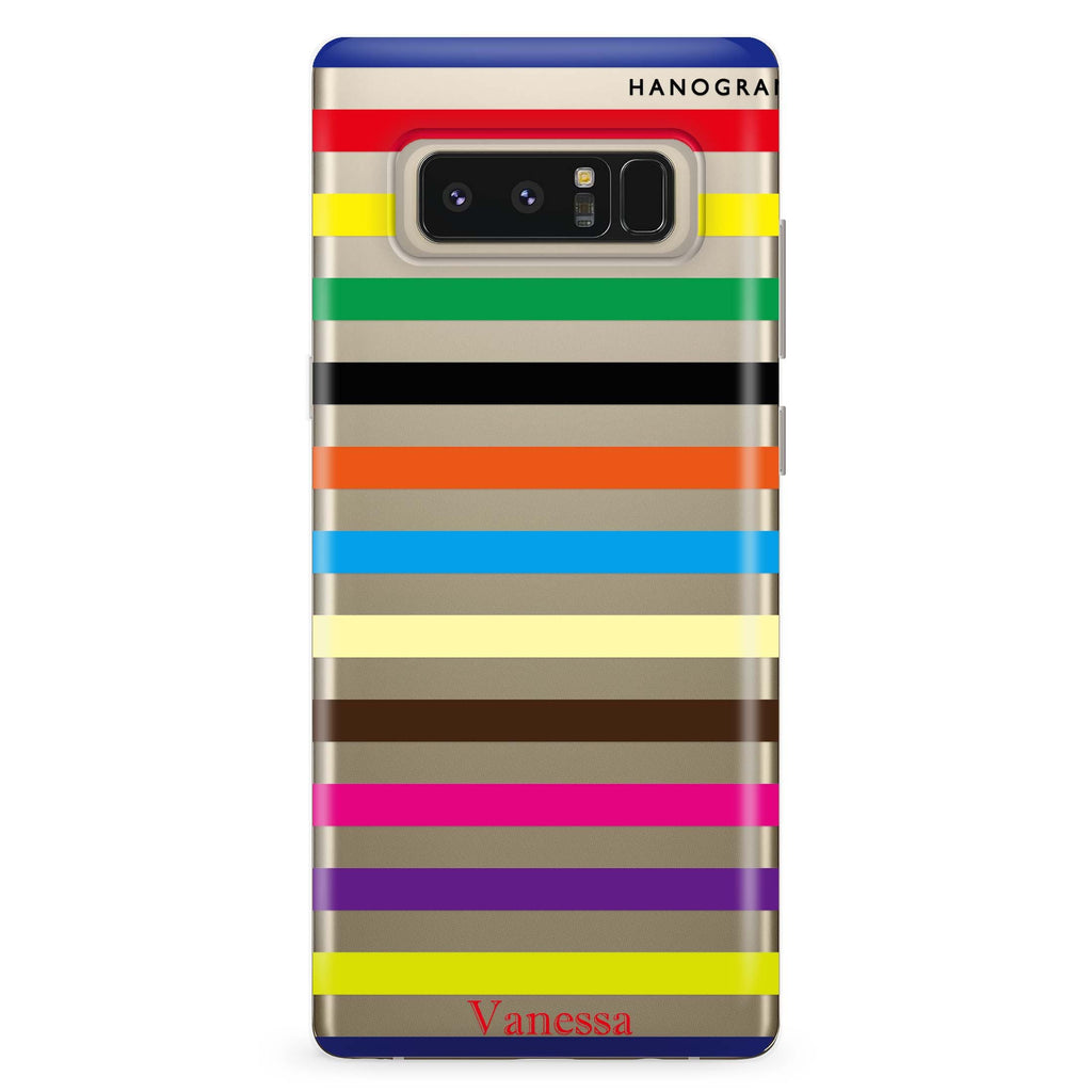 colorful stripe Samsung Note 8 Soft Clear Case