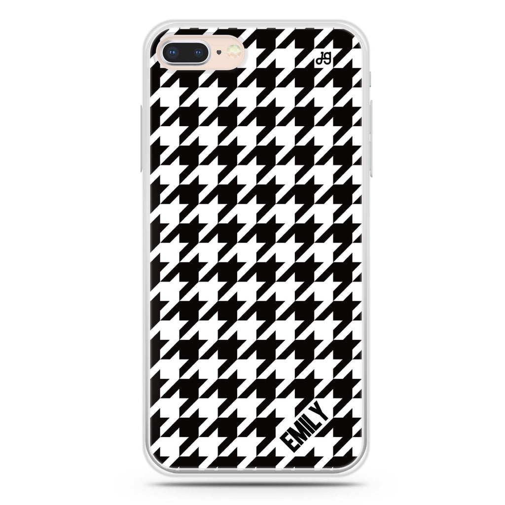 Houndstooth iPhone 8 Soft Clear Case
