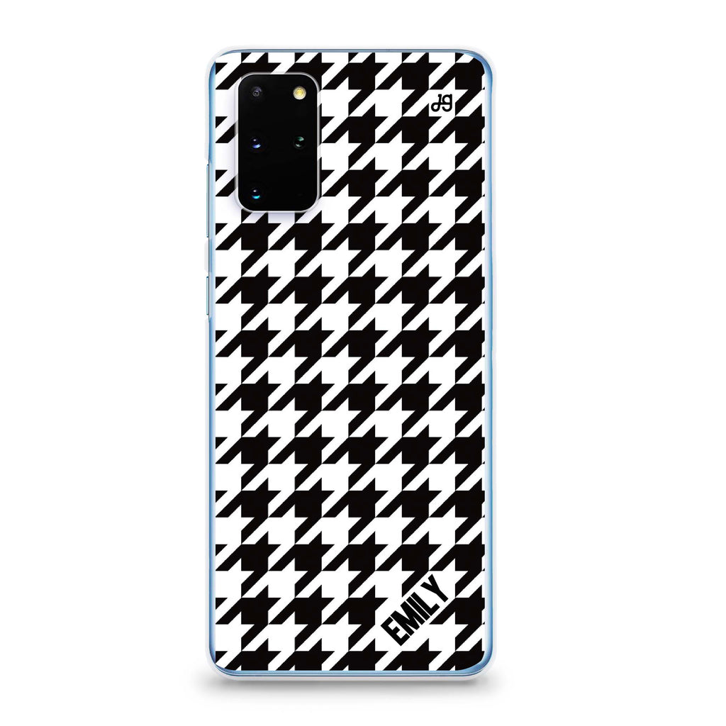 Houndstooth Samsung S20 Plus Soft Clear Case