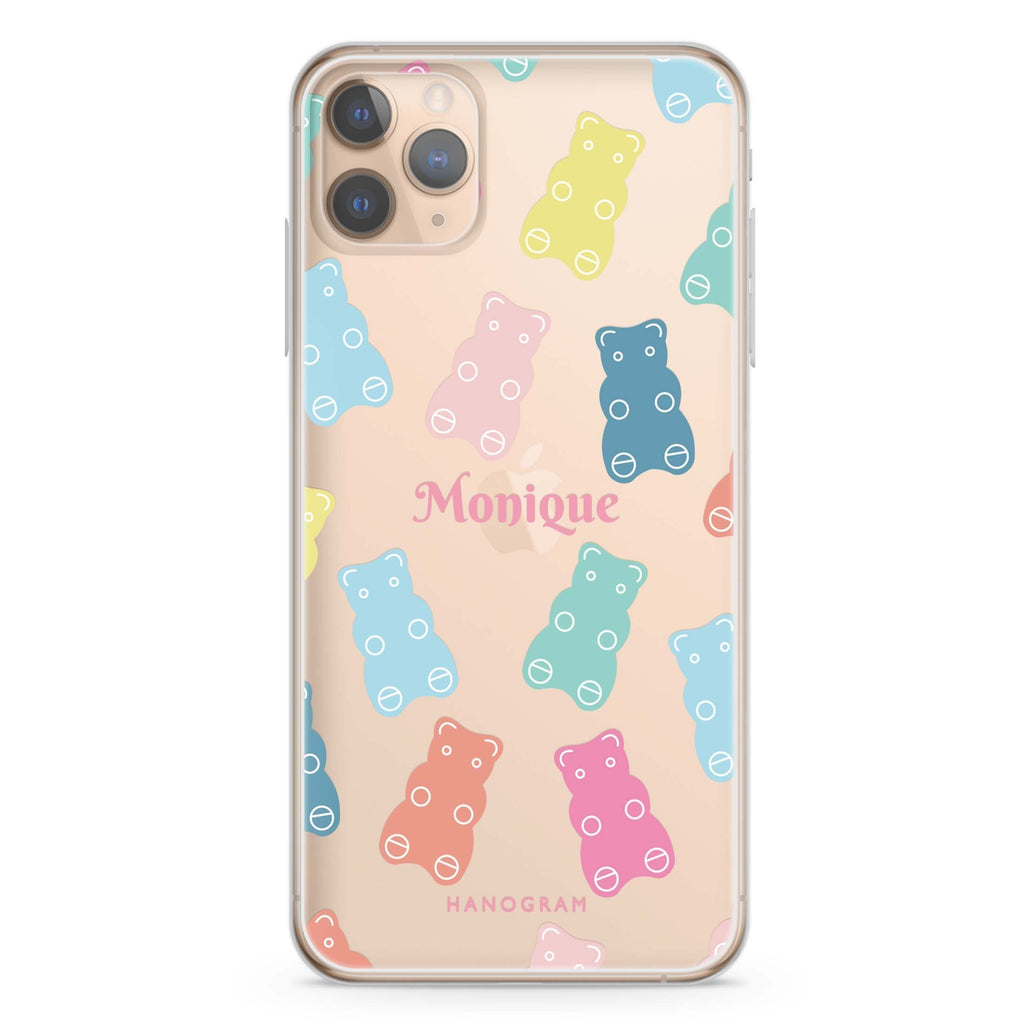 Sweet Dream Bear iPhone 11 Pro Max Soft Clear Case