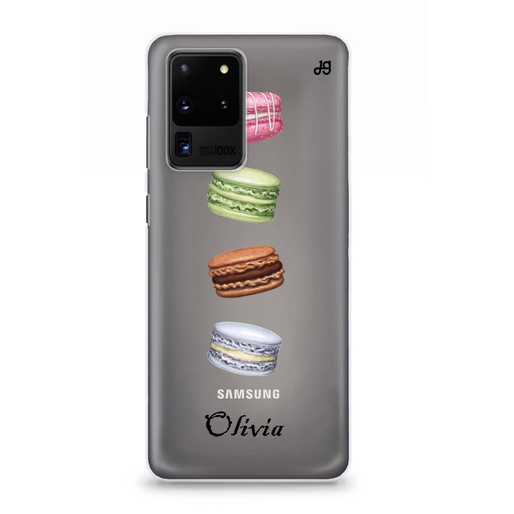Delicious Macarons Samsung S20 Ultra Soft Clear Case