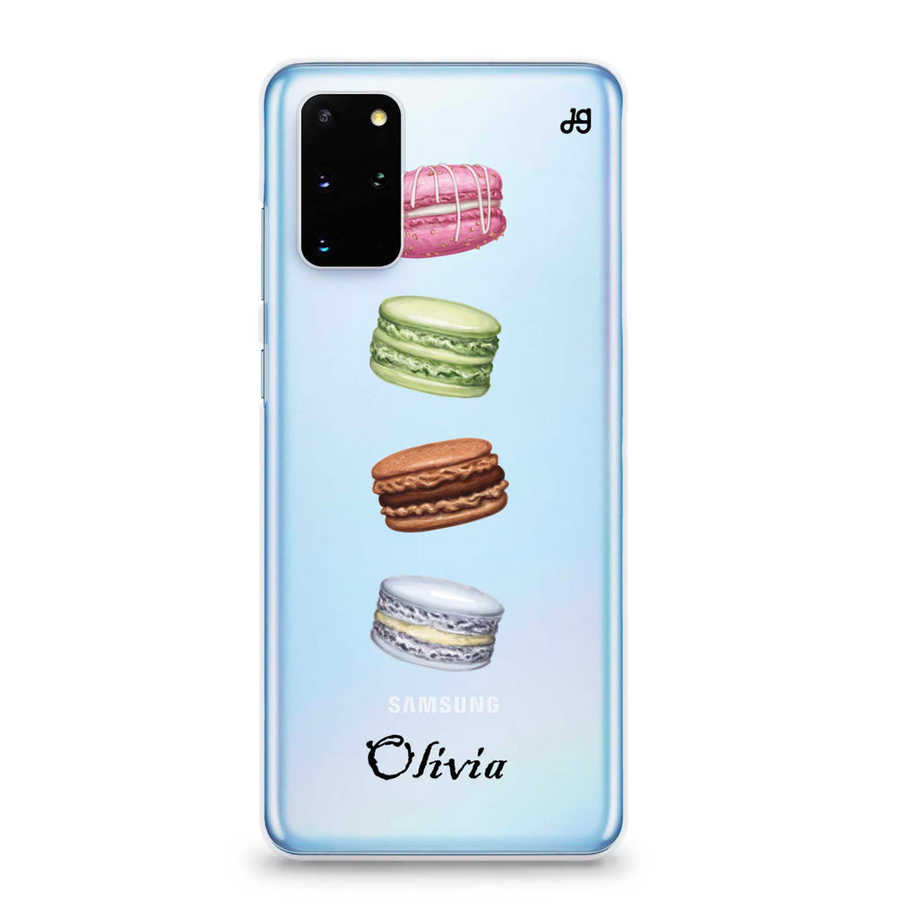 Delicious Macarons Samsung S20 Plus Soft Clear Case