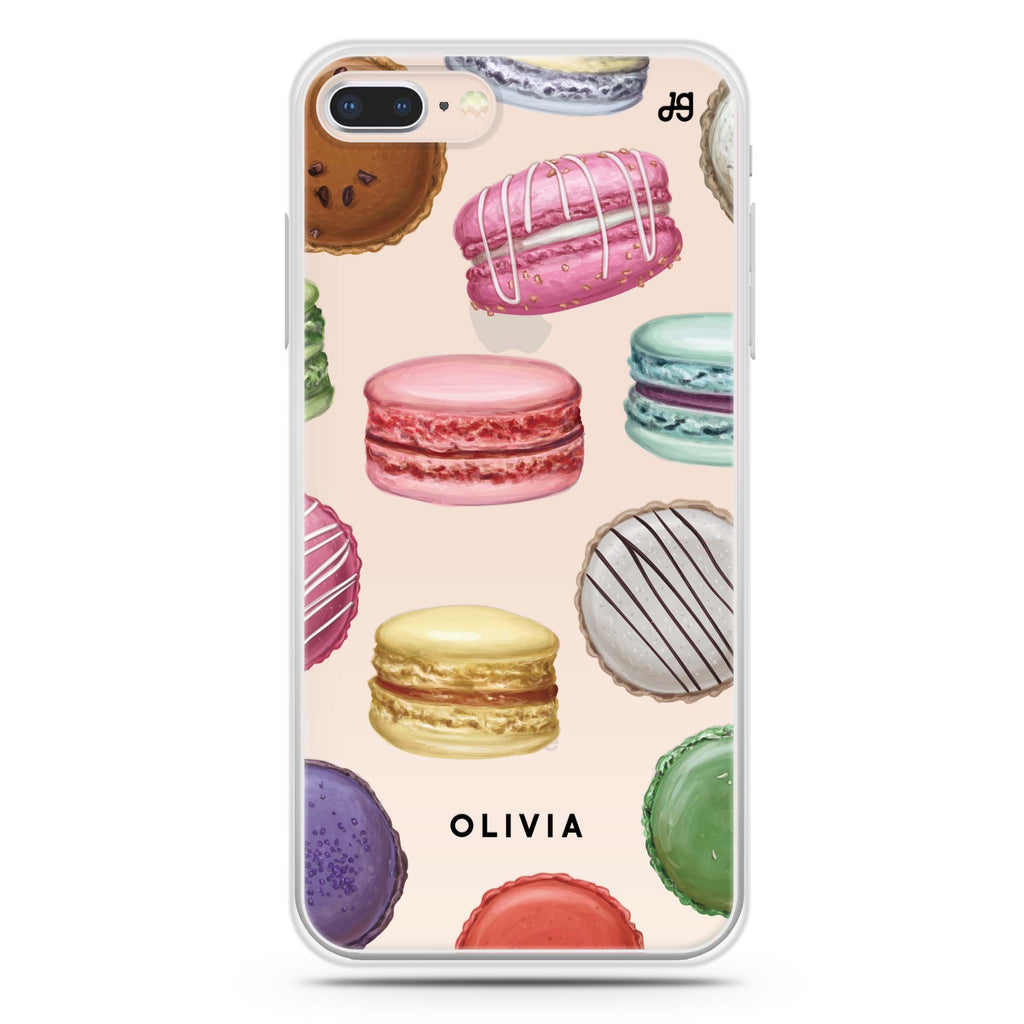 Macarons Land iPhone 8 Soft Clear Case