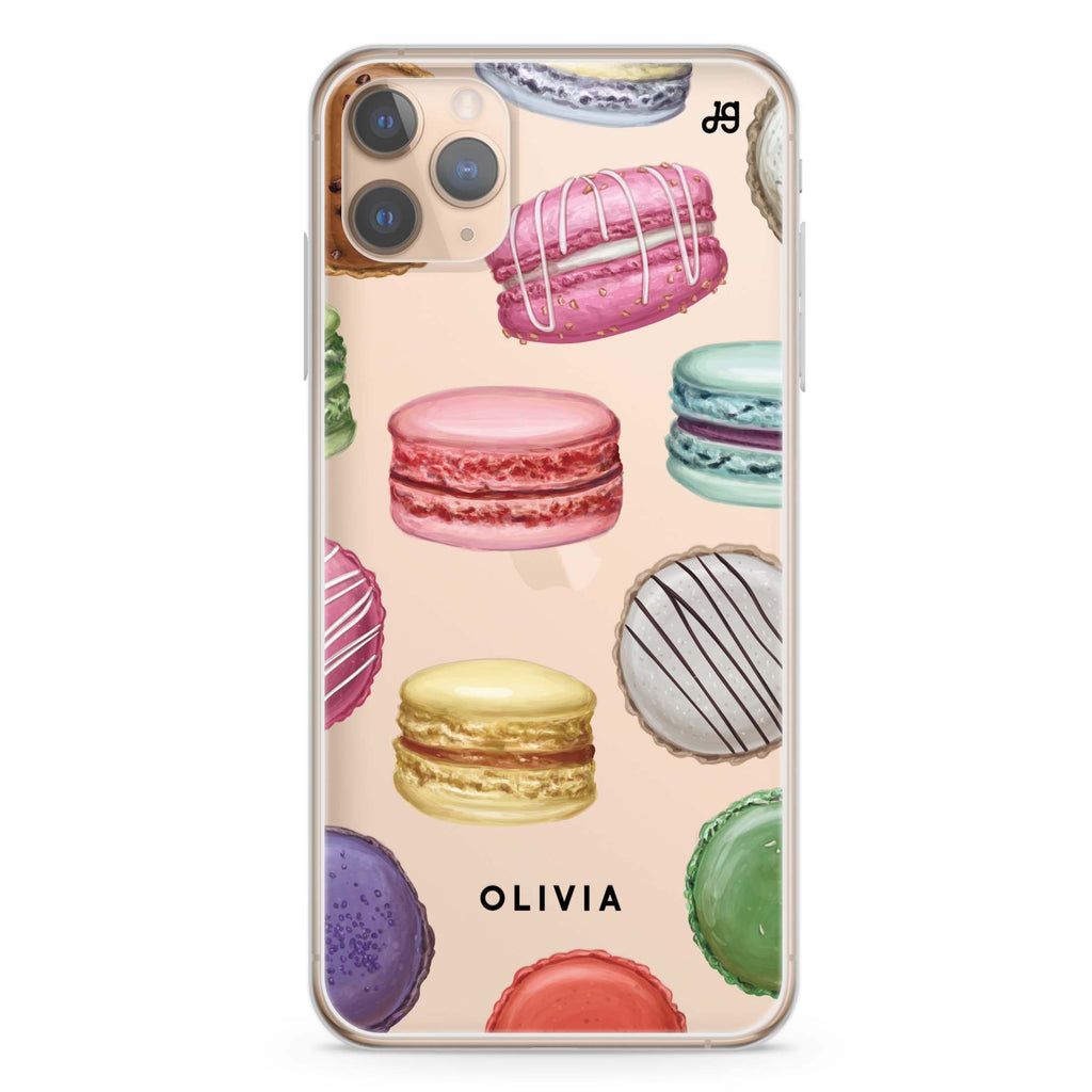 Macarons Land iPhone 11 Pro Max Soft Clear Case