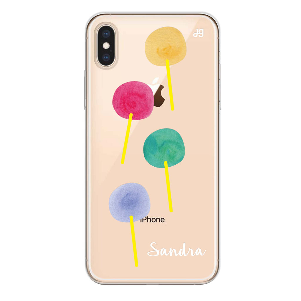 Colorful Candy I iPhone XS Max Soft Clear Case