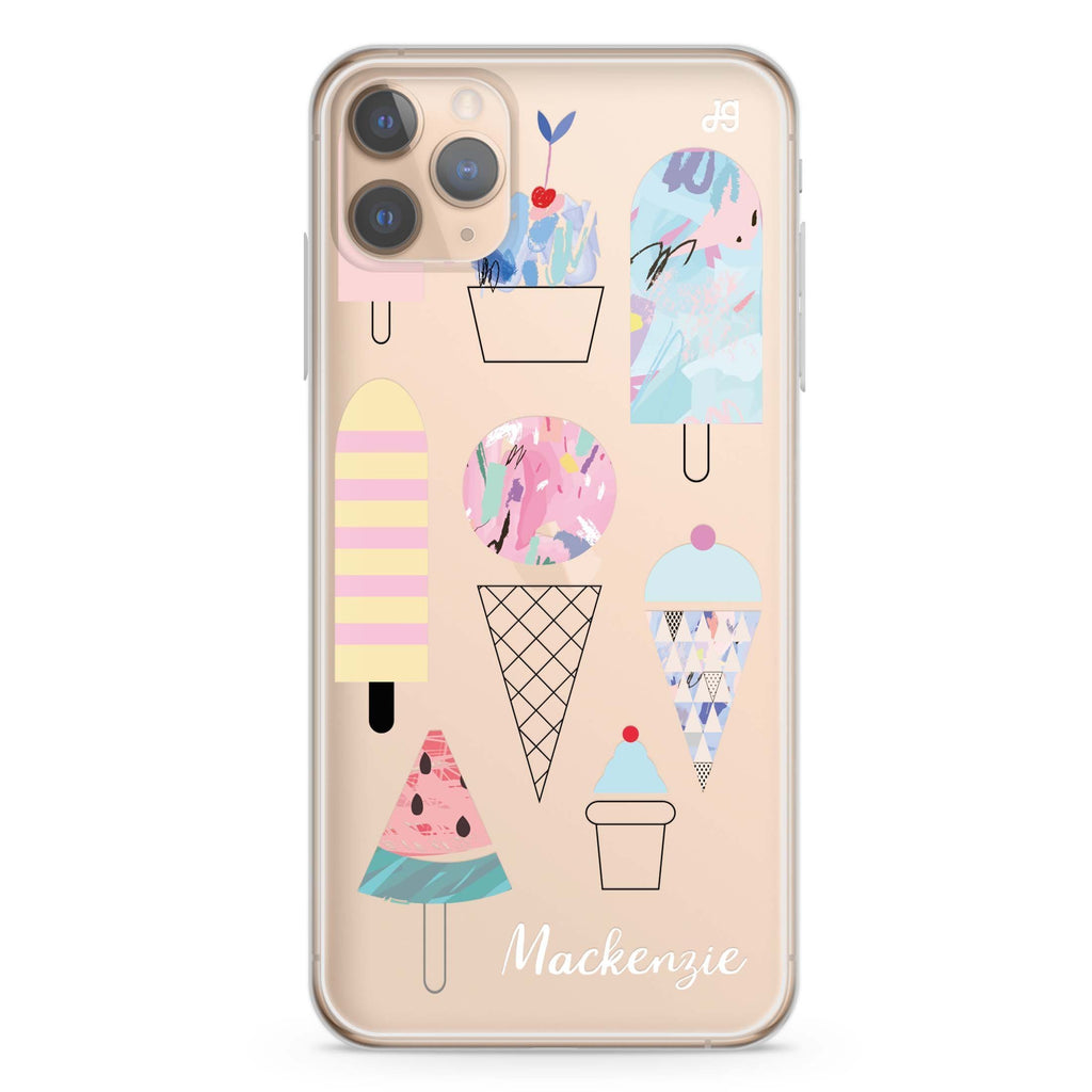 Artistic Ice cream II iPhone 11 Pro Max Soft Clear Case