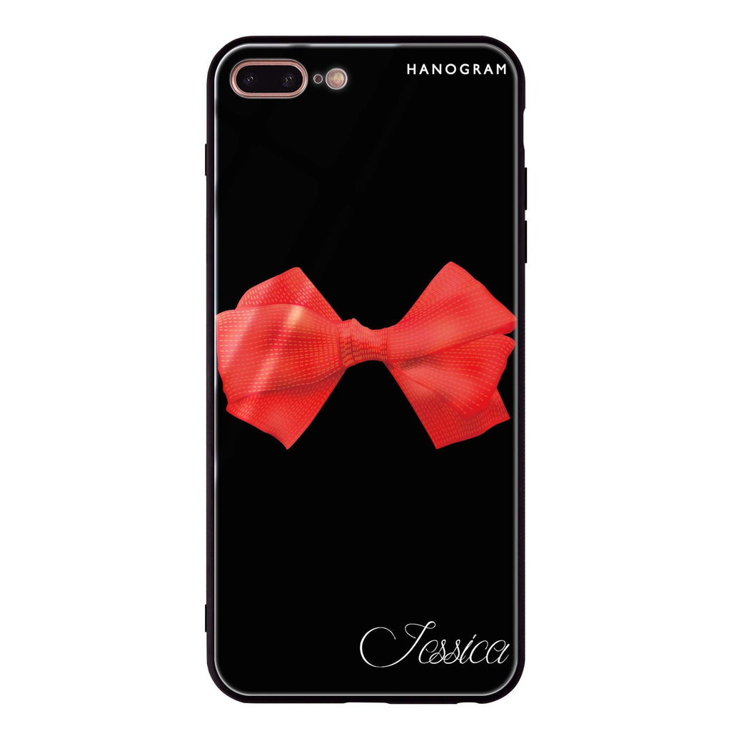 Red Bow iPhone 7 Plus Glass Case