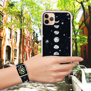 Phases of the moon - Frosted Bumper Case and Watch Band