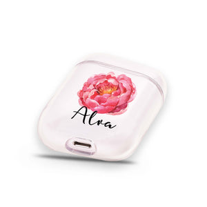 Red Floral Airpods Case