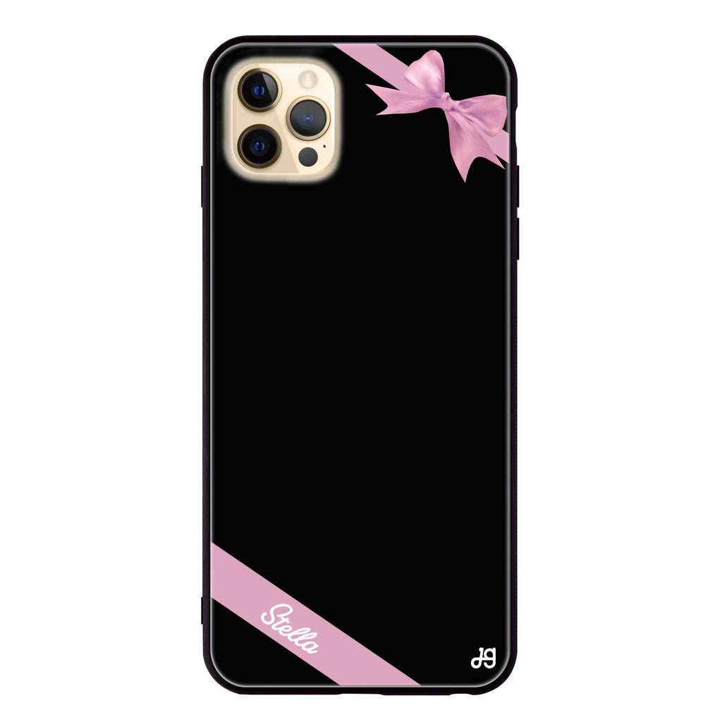 Pink Bow Glass Case