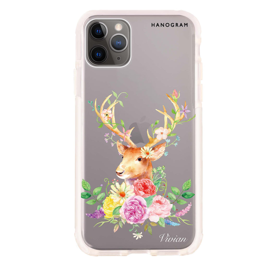 Floral & Deer Shockproof Bumper Case