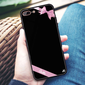Pink Bow iPhone 8 Plus Glass Case