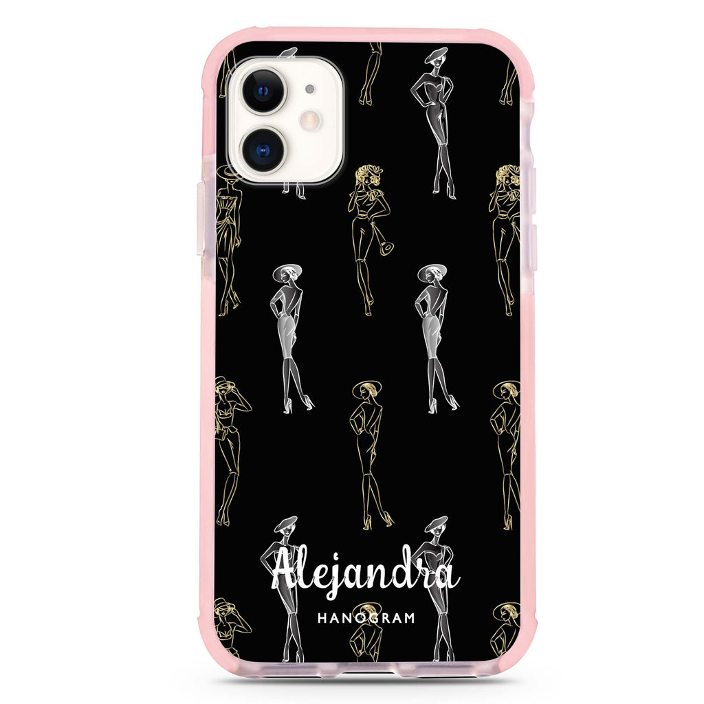 Elegant Girls Seamless iPhone 11 Shockproof Bumper Case