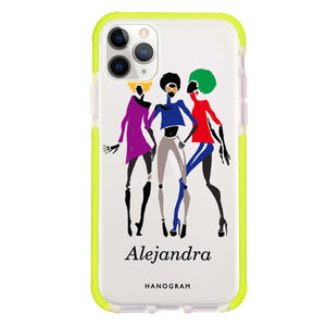 Artistic Girls Frosted Bumper Case