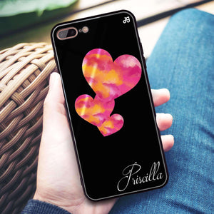 Red Hearts iPhone 8 Plus Glass Case