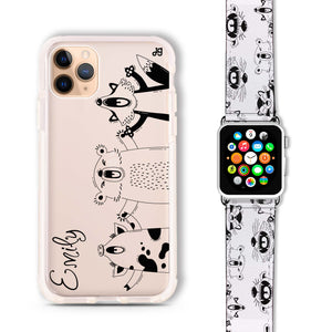 Funny Animals - Frosted Bumper Case and Watch Band